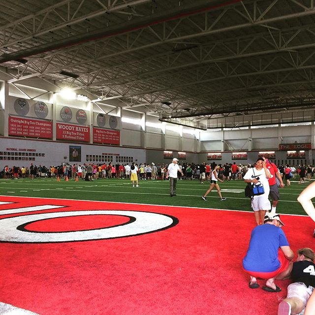 Ohio State one day football camp. #football #travelin #itshot #buckeye #notinmi
