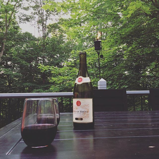 Nice beginning to a long weekend! #fourthofjuly #wine #nomosquitos