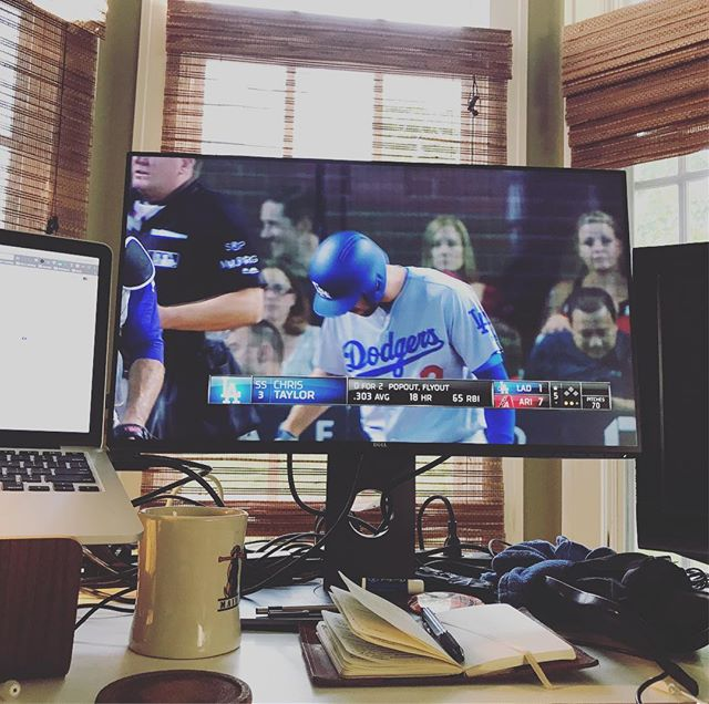 Watching a little #baseball.