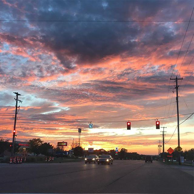 Quite the sunset last night.