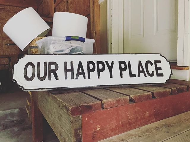 The sign keeps moving. Luckily or happy place moves with us!