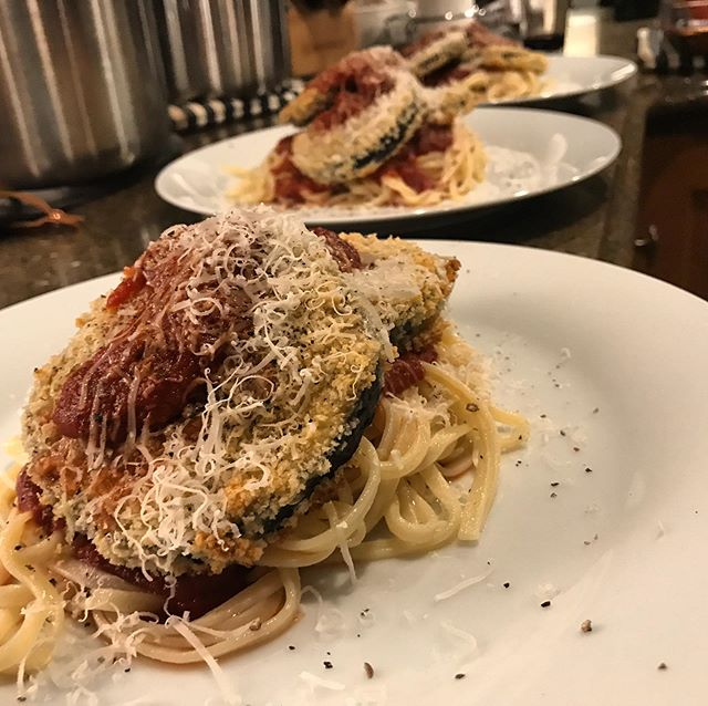 Eggplant parmesan for dinner the other night.
